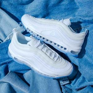 NIKE AIR MAX 97 White Ice Women's Shoes 8 New